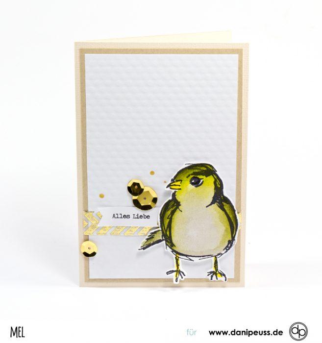Vogel Stempel colorieren