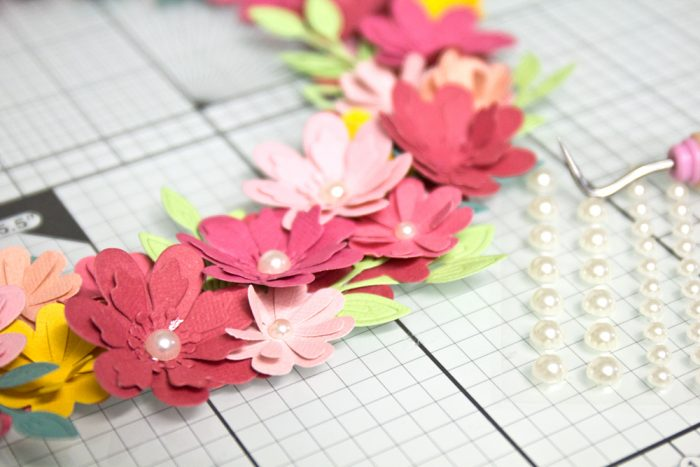 Perlen als Blütenstempel