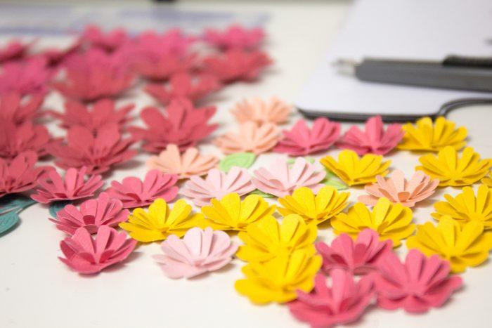 Blüten aus Cardstock