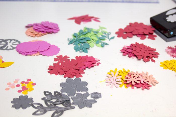 Papierblumen stanzen