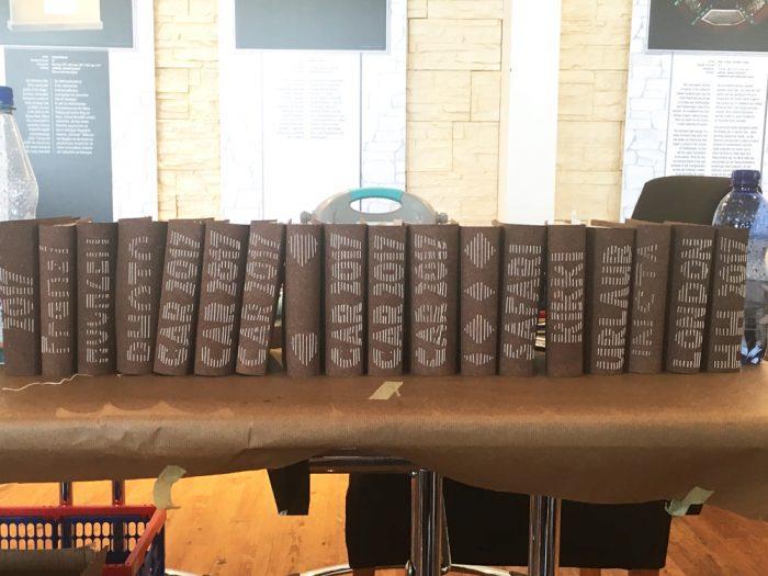 Fertige Minibooks beim Workshop