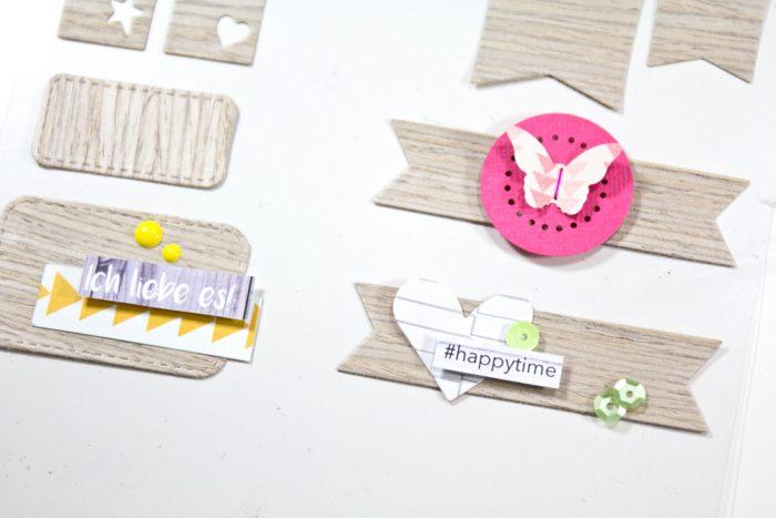 Sticker mit Die Cuts dekorieren