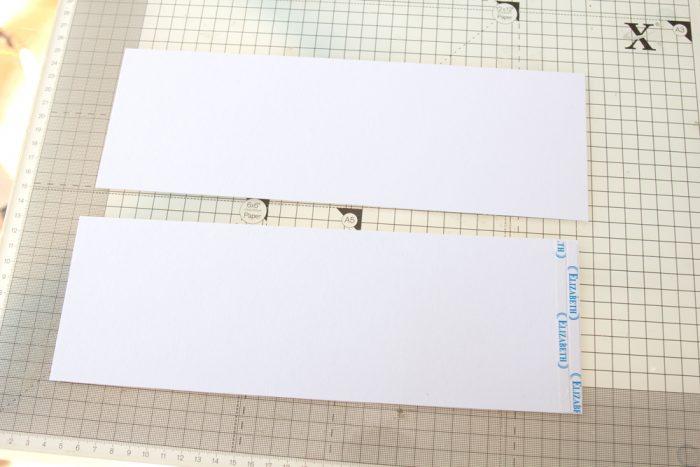 Cardstockstreifen für Seiten aneinander kleben