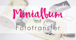 Minialbum mit Fototransfer