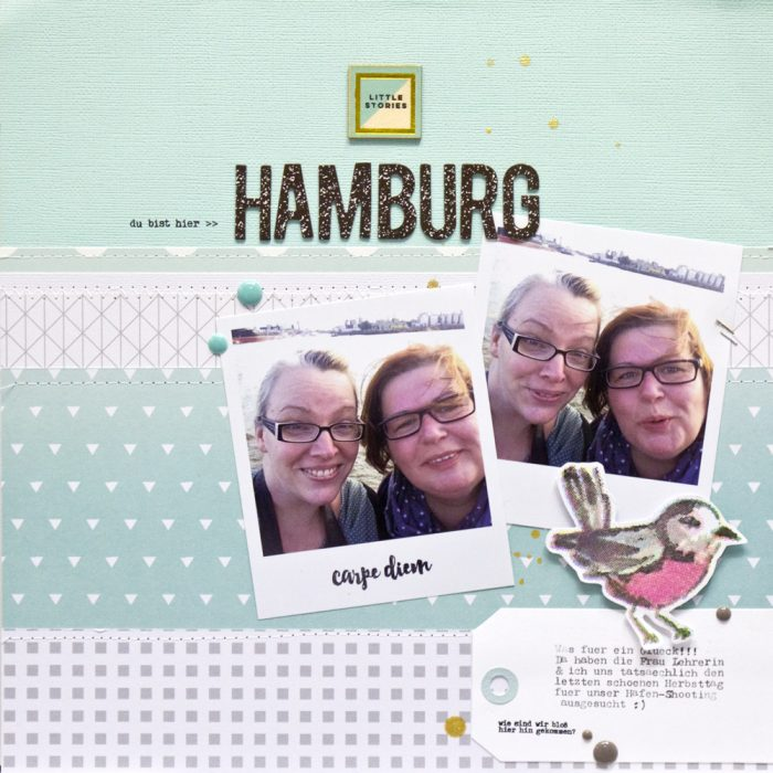 Scrapbooking Layout mit 2 Fotos