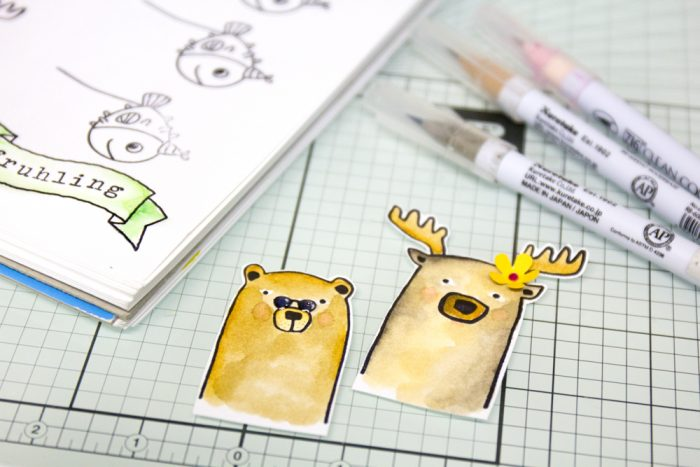 Stempel mit Real Brush Pens colorieren