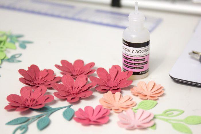 3D Blüten aus Papier