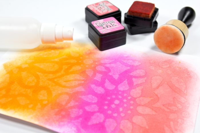 Karte mit Distress Inks