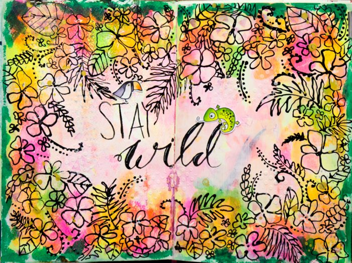 Stay wild Art Journal
