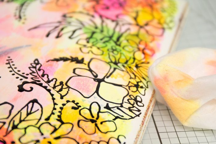 Doodle Flowers Art Journal