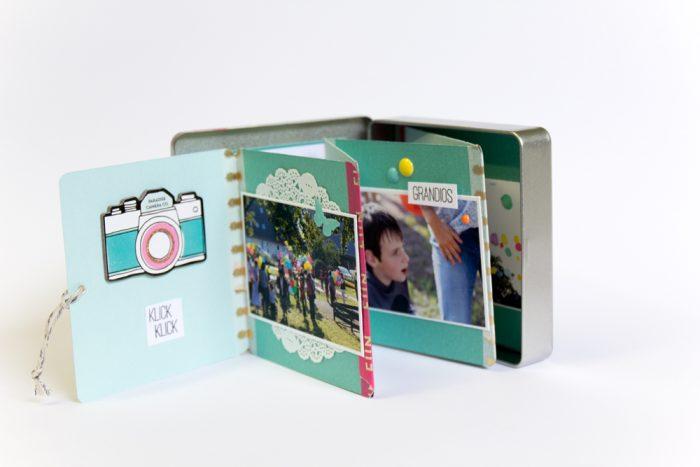 Minialbum in einer Blechdose