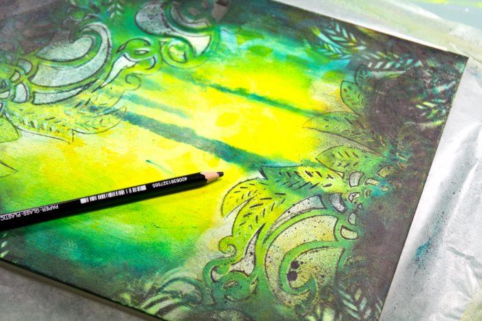 Schabloniertechniken für Art Journaling