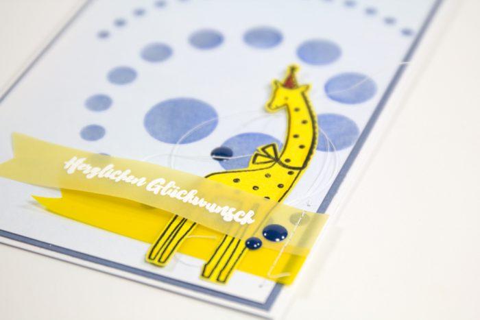 Geburtstagskarte mit Pastellfarben