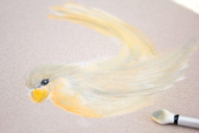 Pan Pastel Zeichnung