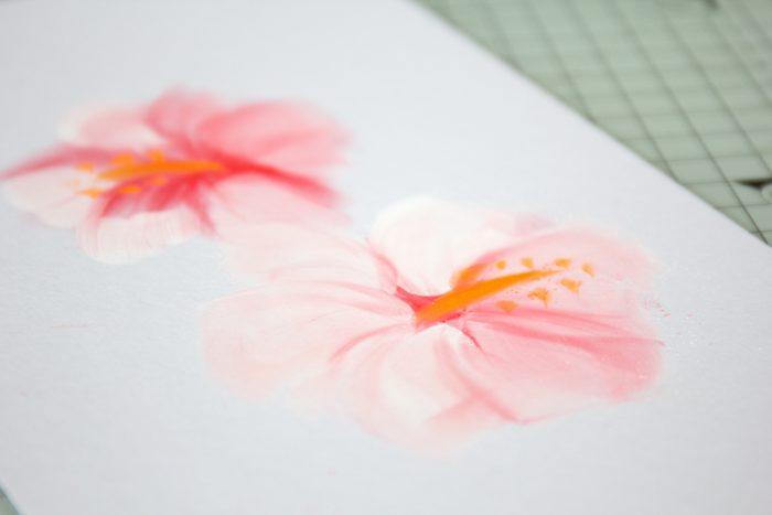 Einfache Blumen mit Pastellfarbe zeichnen