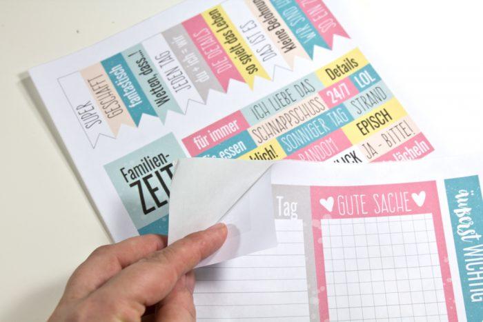Printables auf Etikettenpapier drucken