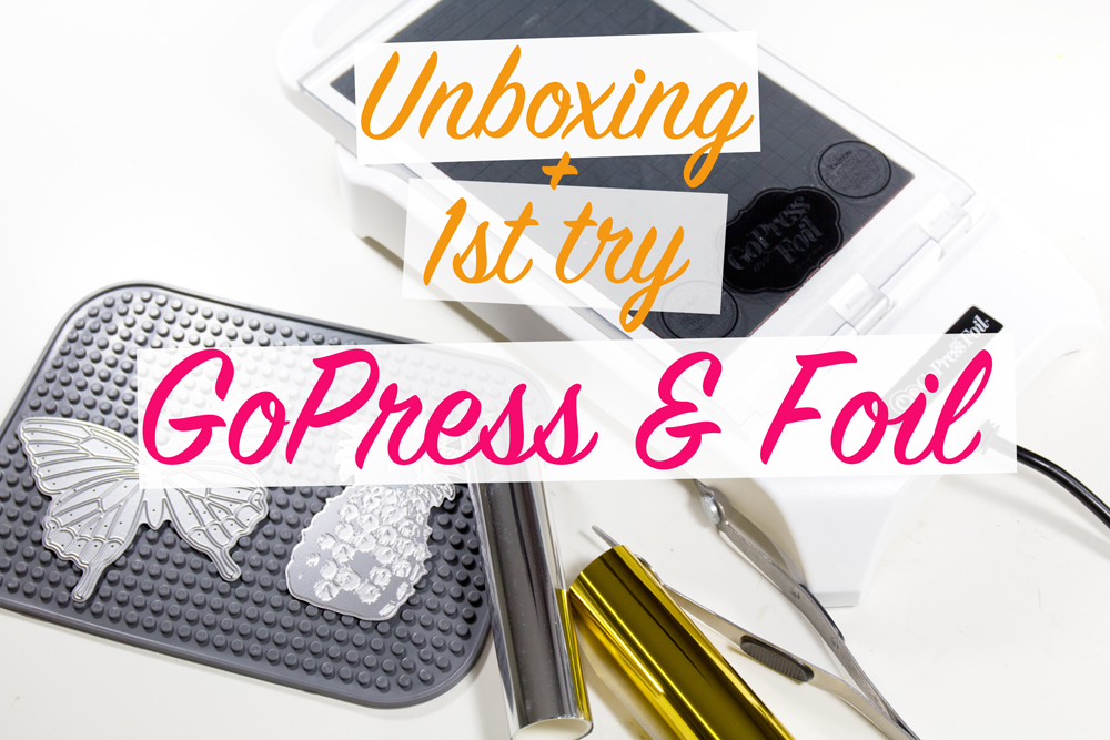 Unboxing Go Press and Foil