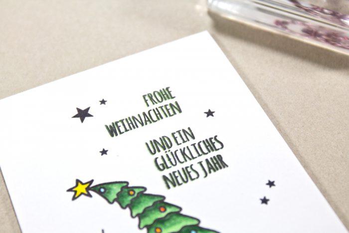 Weihnachtskarte Klartextstempel