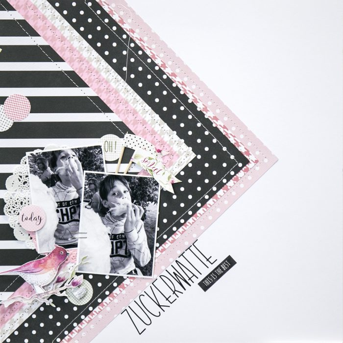 Layering Layout mit DIY Alphabetstickers