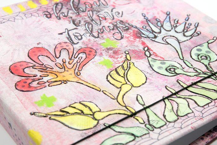 Strukturpaste und Stencil