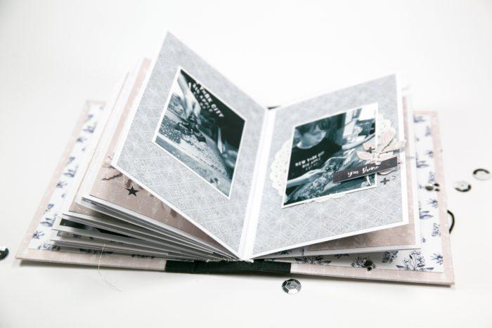 Minialbum schlicht für viele Fotos