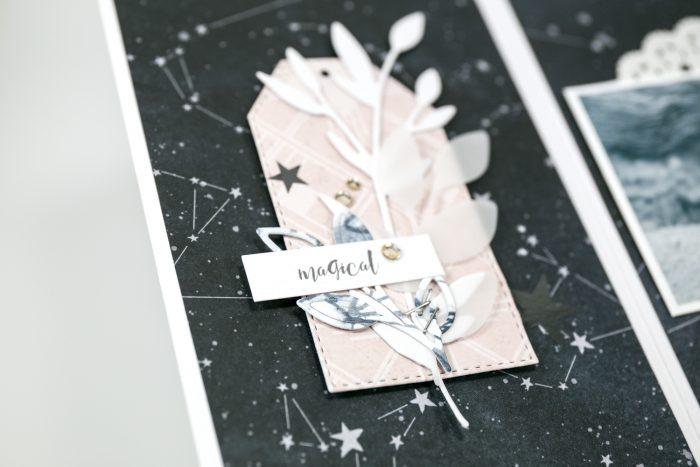 Minialbum Seite Dekoration