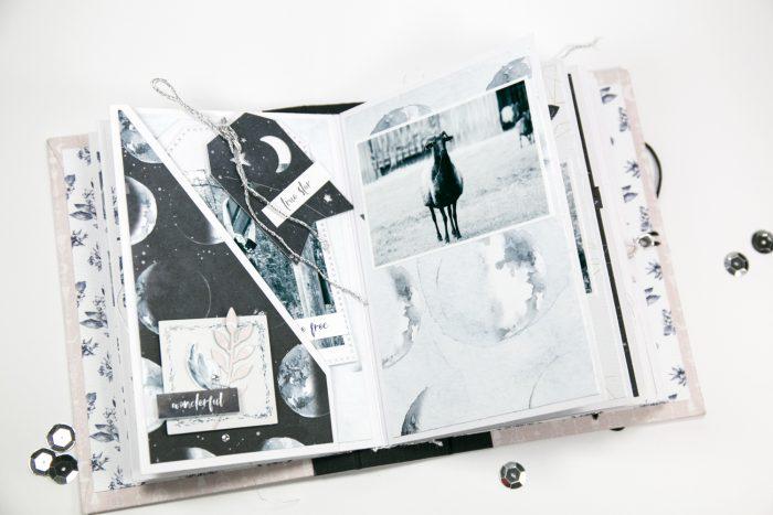 Minialbum Seite mit Tasche