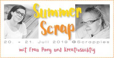 Summerscrap mit Frau Pony und Kreativsüchtig