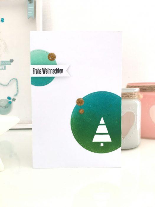 schlichte Weihnachtskarte