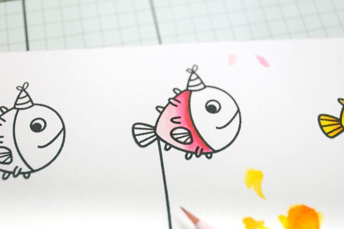 Farbverlauf mit Zig Clean Color Stiften