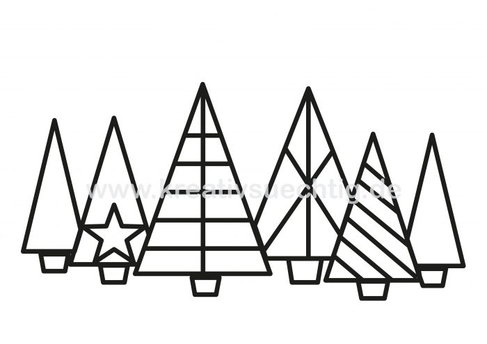 Cutfile Xmas Trees