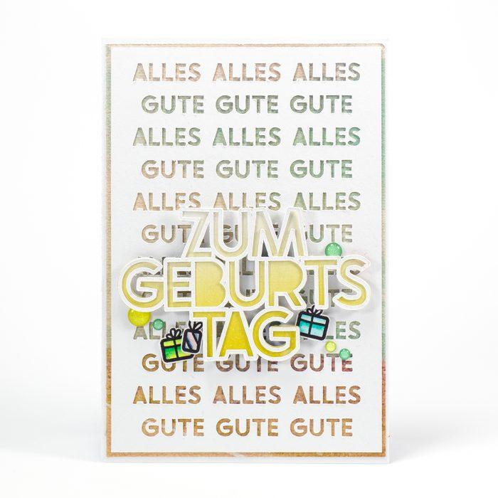 Geburtstagskarte Plotter