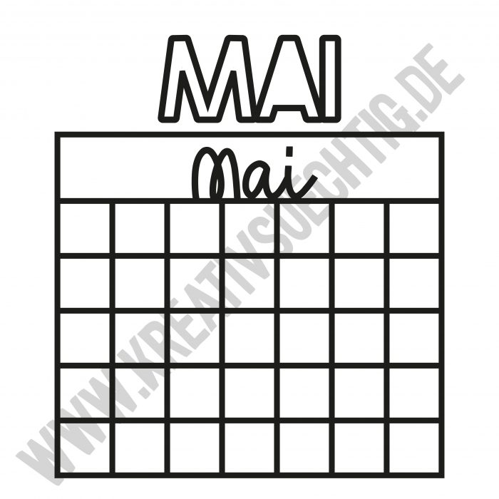 Cutfile Kalender