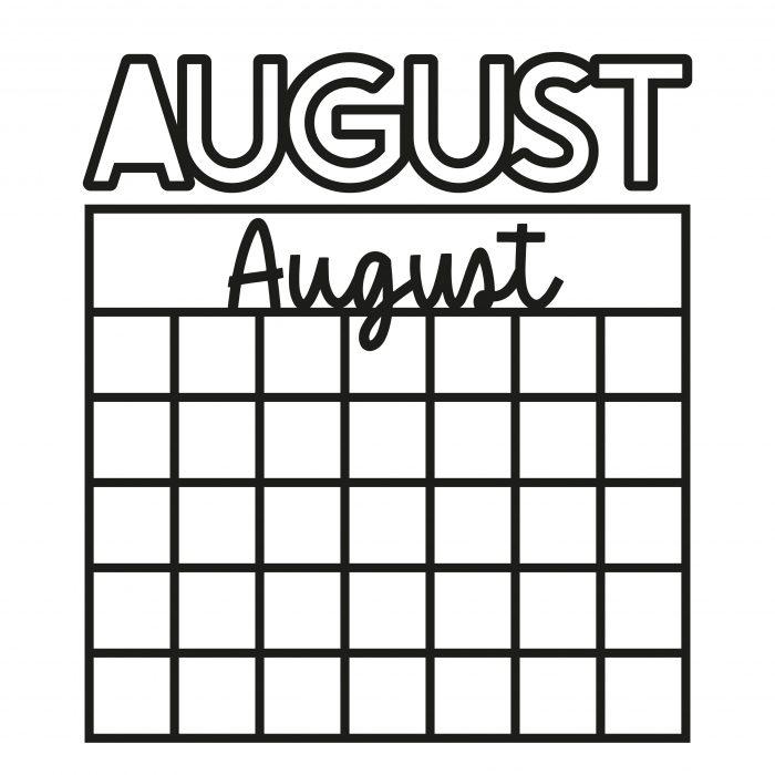 Plotterdatei Kalender August