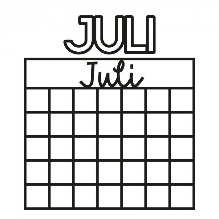 Plotterdatei Kalender Juli